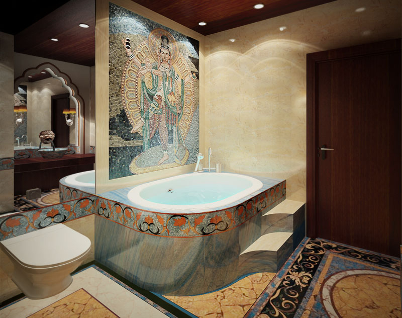 Bathtub Jacuzzi Mosaic Covers | Mosaic Marble Inspiration Gallery
