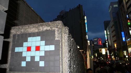 Invader Mosaic Tiles
