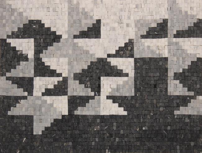 Black White Pixel Art Mosaic Mosaic Marble