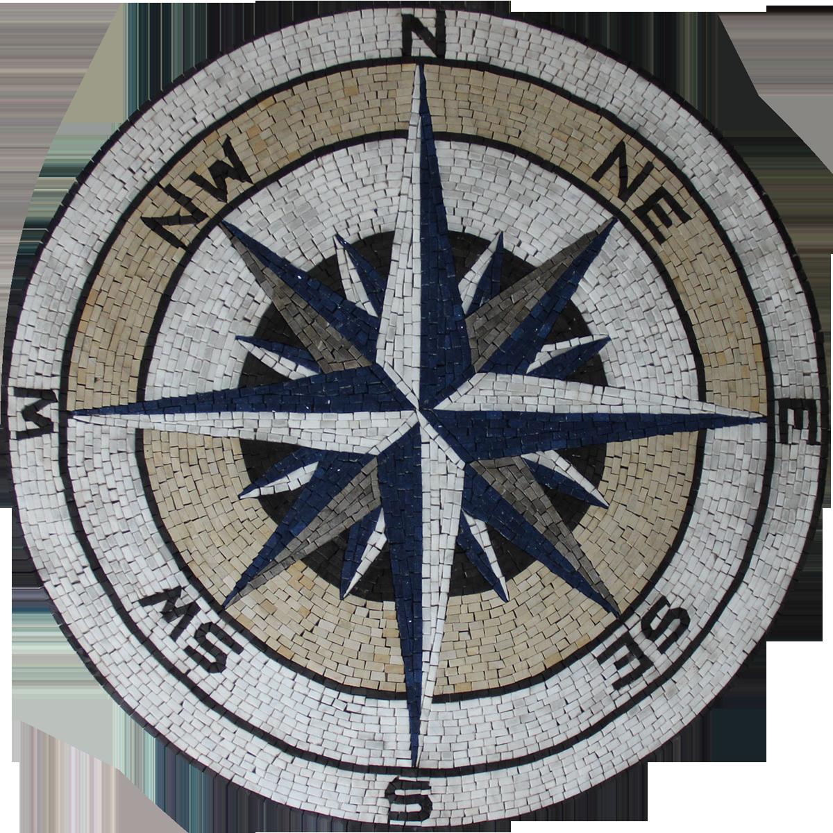 Compass Marble Medallion Wall Amp Floor Mosaic Mosaic Marble