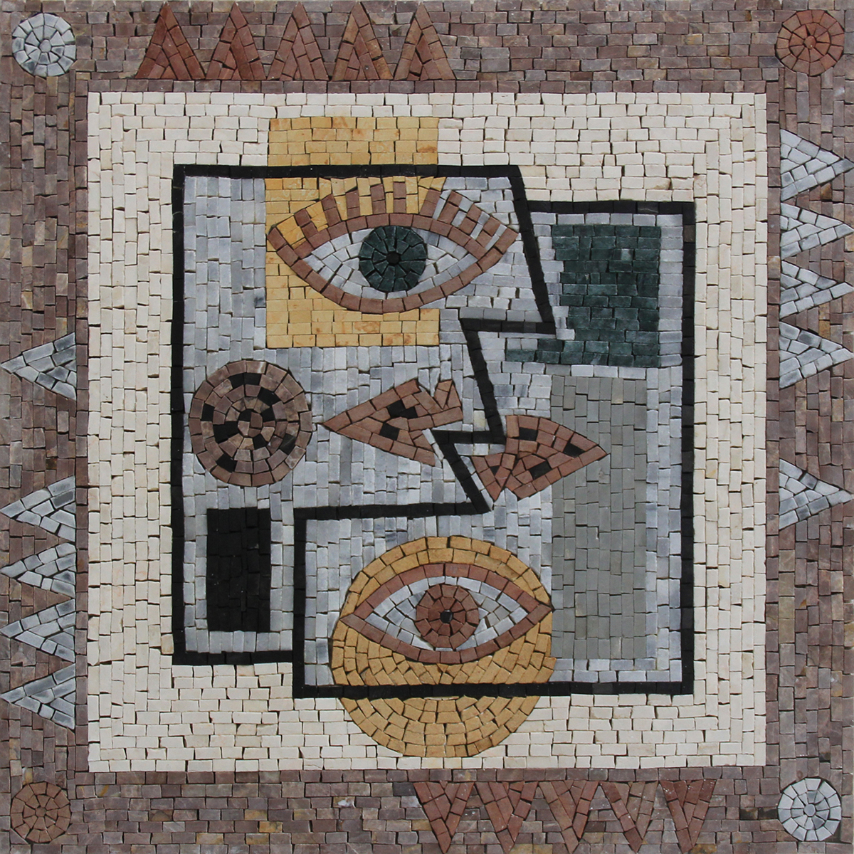 Abstract Geometrical Portrait Modern Art Mosaic Mosaic