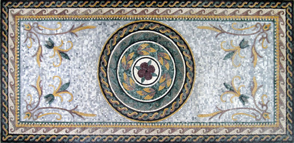 Cr191 Roman Leaves Amp Flower Design Carpet Mosaic Mosaic