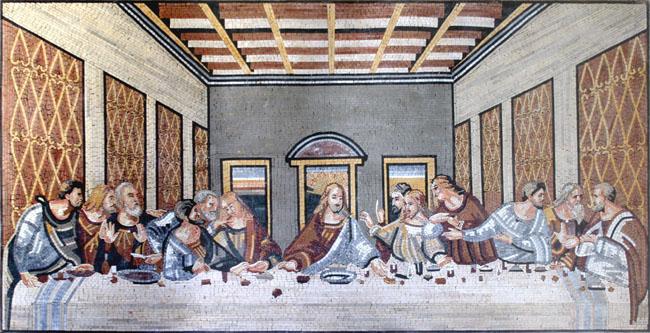 Da Vinci The Last Supper Religious Mosaic Mosaic Marble