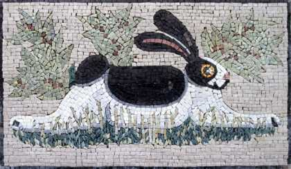 AN100 B&W rabbit Mosaic