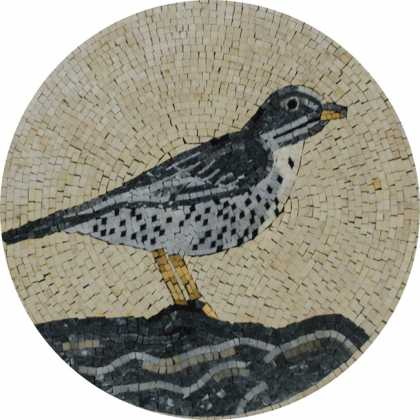 AN1031 Bird Nature Garden Design  Mosaic