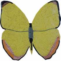 Yellow Butterfly Nature Garden Mosaic