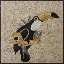 AN1059 Toucan Tropical Colorful Bird Handmade  Mosaic