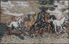 Horses Running Tile Art