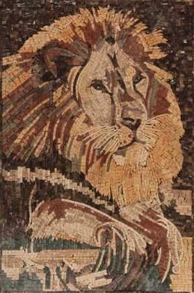AN1092 Lion King Forest Wild Calm  Mosaic