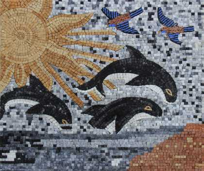 AN1103 Killer Whales  Mosaic