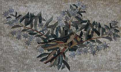 Home Decor Mosaic with Birds