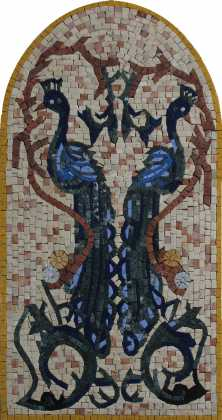 Peacock arched twins Mosaic