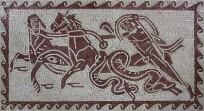 AN1147 Neptune Trident Chariot Hippocamps  Mosaic