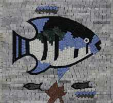 Blue fish wall art