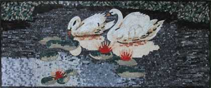 AN1199 Swan and Lotus in Motion  Mosaic
