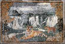 AN120 Tigers in nature  Mosaic