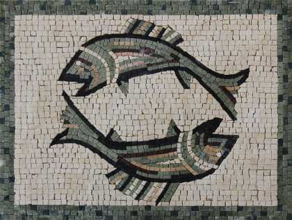 AN1203 Pisces Fish Double Charm  Mosaic