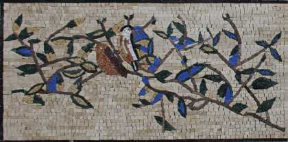 Birds in the Bushes Wall Art Mosaic