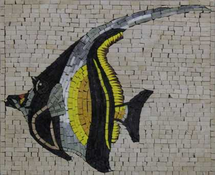 AN1233 Cool Colorful Fish Pool Bathroom  Mosaic