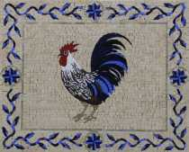 AN1241 Blue Crazy Funky Rooster