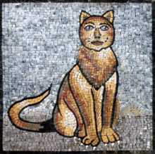 AN126 Golden cat marble mosaic