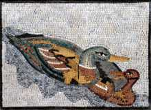 AN132 Mother and baby duck mosaic