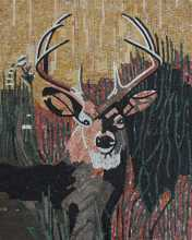 AN137 Deer head mosaic