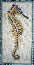 AN142 Golden sea horse Mosaic