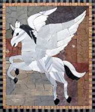 AN161 White pegasus cut tile Mosaic