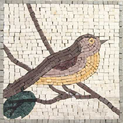 Small Bird Mosaic Backsplash Tile