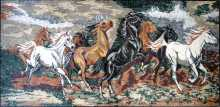 AN183 Rectangular galloping horses Mosaic