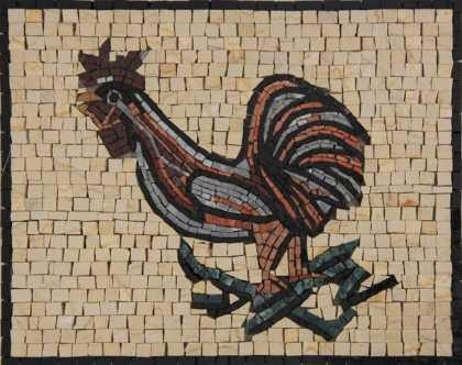 AN1839 Crazy Cute Rooster Kitchen Backsplash  Mosaic