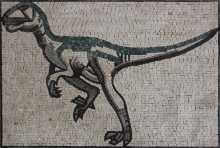 AN186 Grey and green dinosaur Mosaic