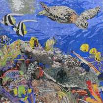 AN1871 Calm Cute Sea Life Ocean Deep  Mosaic