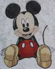 Mickey Mouse in The House Cartoon Mosaic