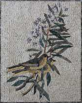 AN1875 HANDMADE Wall Art Birds in Bush  Mosaic