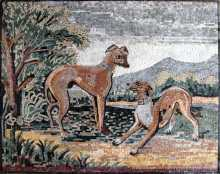 AN188 Dogs in nature Mosaic