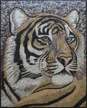 Tiger Wall Decor Mosaic