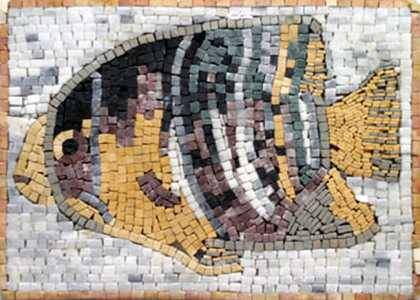 AN19 Big colorful fish mosaic