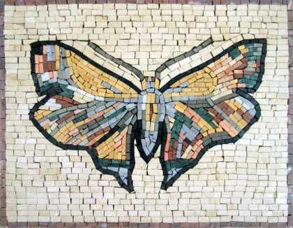 AN195 Beautiful colorful stone mosaic butterfly