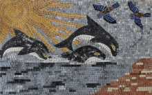 Killer Whales and Birds Summer Mosaic
