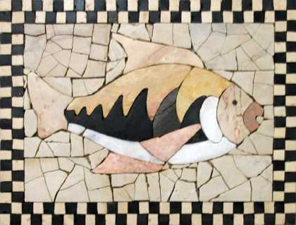 Fish Slate Art Mosaic