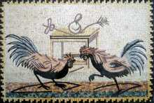 AN214 Elegant roosters Mosaic
