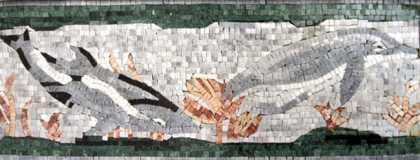 AN223 Swimming dolphins Mosaic