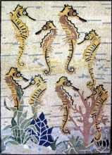 AN239 Gold sea horse group Mosaic