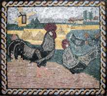 AN240 Roosters landscape Mosaic
