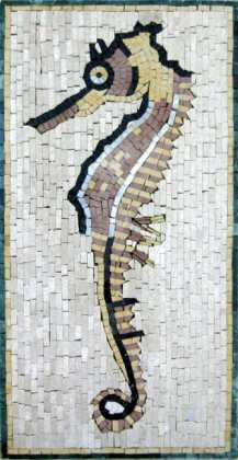AN247 Faded sea horse Mosaic