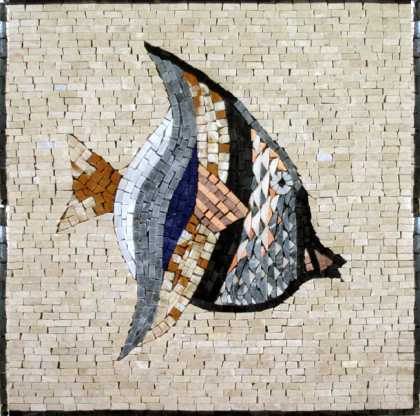 AN249 Beautiful pastel fish Mosaic