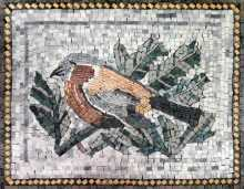 Bird in Green Leaves Mosaic