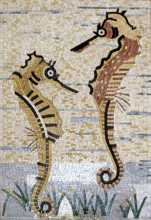 AN280 Mother & baby sea horse Mosaic